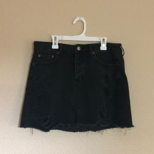 American Eagle Outfitters Black Denim Skirt